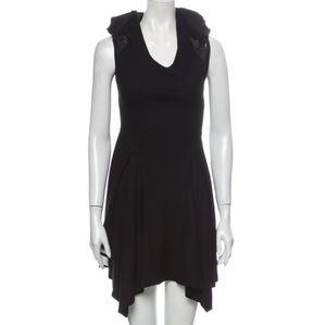 Helmut Lang Black Sleeveless Mini Dress Sheer Med